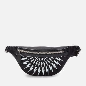 Neil Barrett Men's Fairisle Thunderbolt Waistbag - Black