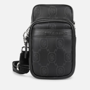 Neil Barrett Men's Monogram Leather Cross Body Bag - Black