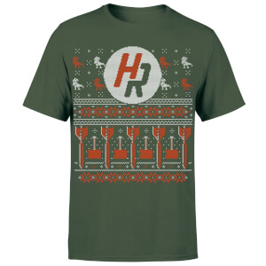 How Ridiculous Ugly Holiday Christmas Men's T-Shirt - Forest Green