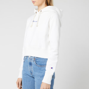Champion Women's Central Script Hooded Sweatshirt - White