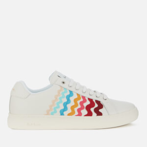 Paul Smith Women's Lapin Leather Cupsole Trainers - White Multi Ribbon