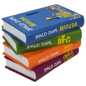 Roald Dahl Matilda Pile of Books Money Box