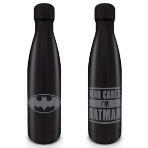 Batman (Who Cares I'm Batman) Metal Drinks Bottle
