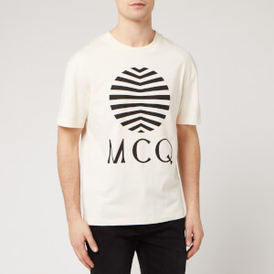 McQ Alexander McQueen Men's Dropped Shoulder Logo T-Shirt - Oyster