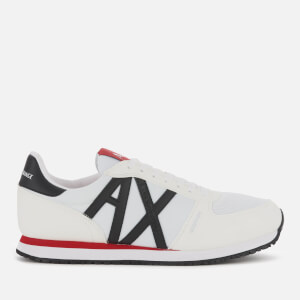 Armani Exchange Men's Retro Running Style Trainers - Optical White/Black