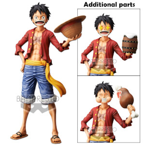 Statuetta  One Piece Monkey.D.Luffy Grandista Nero  - Banpresto