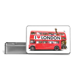 I Love London Bus Metal Storage Tin