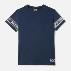 Emporio Armani EA7 Boy's Taping Short Sleeve T-Shirt - Navy