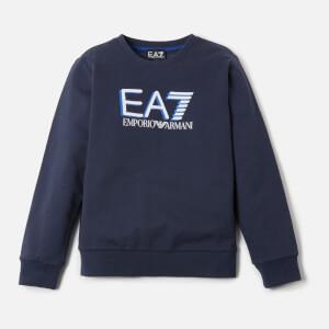 Emporio Armani EA7 Boy's Large Logo Sweatshirt - Navy