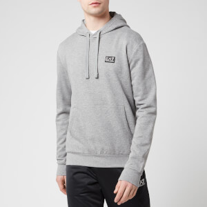 Emporio Armani EA7 Men's Small Logo Overhead Hoody - Medium Grey