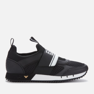Emporio Armani EA7 Men's Runner with Strap Trainers - Black