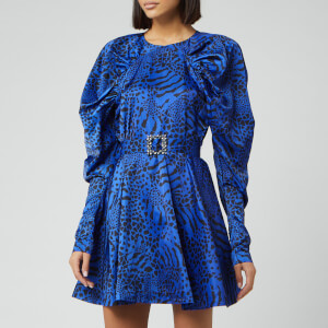 ROTATE Birger Christensen Women's Tara Taffetta Mini Dress - Dazzling Blue