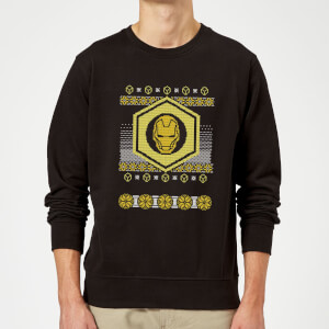 Iron Man Christmas Sweatshirt - Black