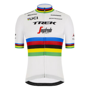 Santini Trek Segafredo 2019 World Champion Jersey - White