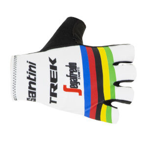 Santini Trek Segafredo 2019 World Champion Gloves - White