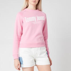 Tommy Jeans Women's TJW Chest Logo Sweatshirt - Pink Daisy