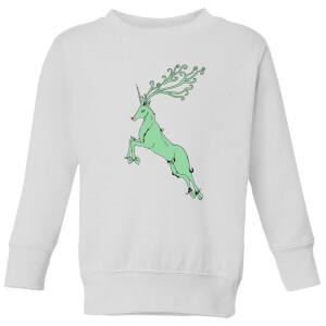 Green Rudolph Kids' Sweatshirt - White