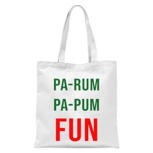 Pa-Rum Pa-Pum Fun Tote Bag - White