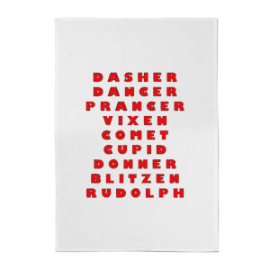 Reindeer Line Up Cotton Tea Towel