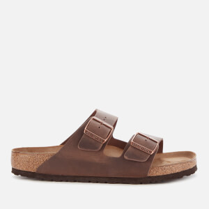 Birkenstock Men's Arizona Oiled Leather Double Strap Sandals - Habana