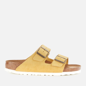 Birkenstock Women's Arizona Sfb Suede Double Strap Sandals - Ochre