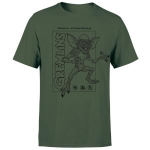 Gremlins Stripe Men's T-Shirt - Forest Green