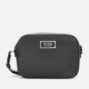 Guess Women's Kamryn Cross Body Bag Top Zip - Black