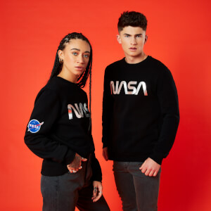 Sweat-Shirt NASA Logo Metallique - Noir - Unisexe