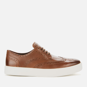 Clarks Men's Hero Limit Leather Brogue Trainers - British Tan