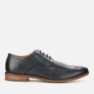 Clarks Men's Stanford Limit Leather Derby Shoes - Navy
