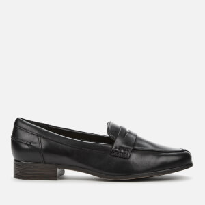 Clarks Women's Hamble Leather Loafers - Black
