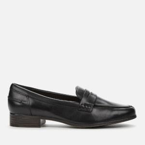Clarks Women's Hamble Leather Loafers - Black