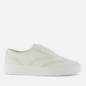 Clarks Women's Hero Leather Brogue Trainers - White