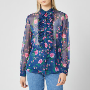 Philosophy di Lorenzo Serafini Women's Fantasy Print Blouse - Blue