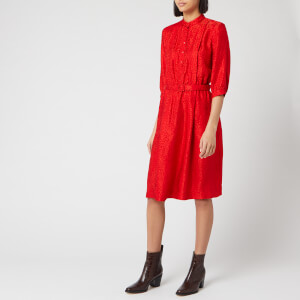 A.P.C. Women's Marion Shirt Dress - Red