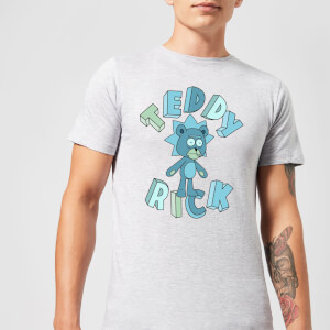 Rick and Morty Teddy Rick Men's T-Shirt - Grey