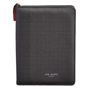 Ted Baker Men's Zip Notebook Folio - Black