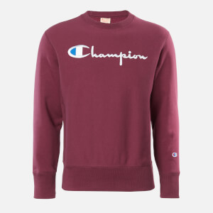 Champion Men's Big Script Crew Neck Sweatshirt - Burgundy