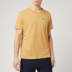 Champion Men's Back Script Crew Neck T-Shirt - Stone