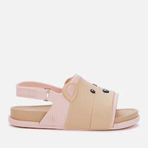 Mini Melissa Toddlers' Beach Slide Bear Sandals - Pink Contrast