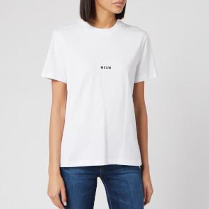 MSGM Women's Centre Logo T-Shirt - Optical White