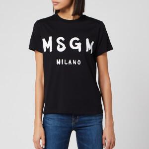 MSGM Women's Graffiti Logo T-Shirt - Black