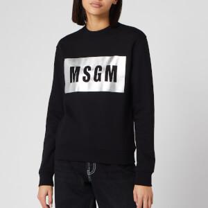 MSGM Women's Foil Logo Sweatshirt - Black