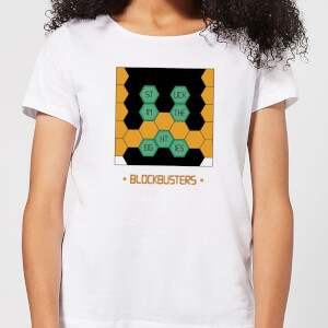 Blockbusters Stuck In The 80's Women's T-Shirt - White