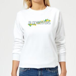 Blockbusters Pattern Logo Women's Sweatshirt - White