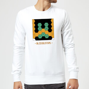Blockbusters Stuck In The 80's Sweatshirt - White