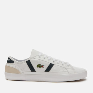 Lacoste Men's Sideline 120 3 Low Top Trainers - White/Off White