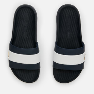Lacoste Men's Croco Slide 120 Slide Sandals - Navy/White
