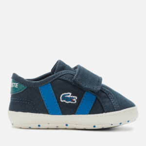 Lacoste Babies Sideline Crib 120 Trainers - Navy/Green