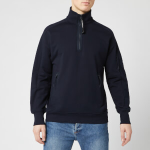 C.P. Company Men's Quarter Zip Sweatshirt - Total Eclipse